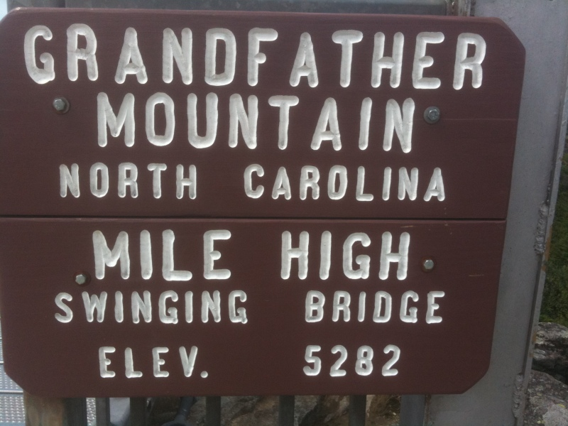 Grandfather Mountain - Elevation 5282